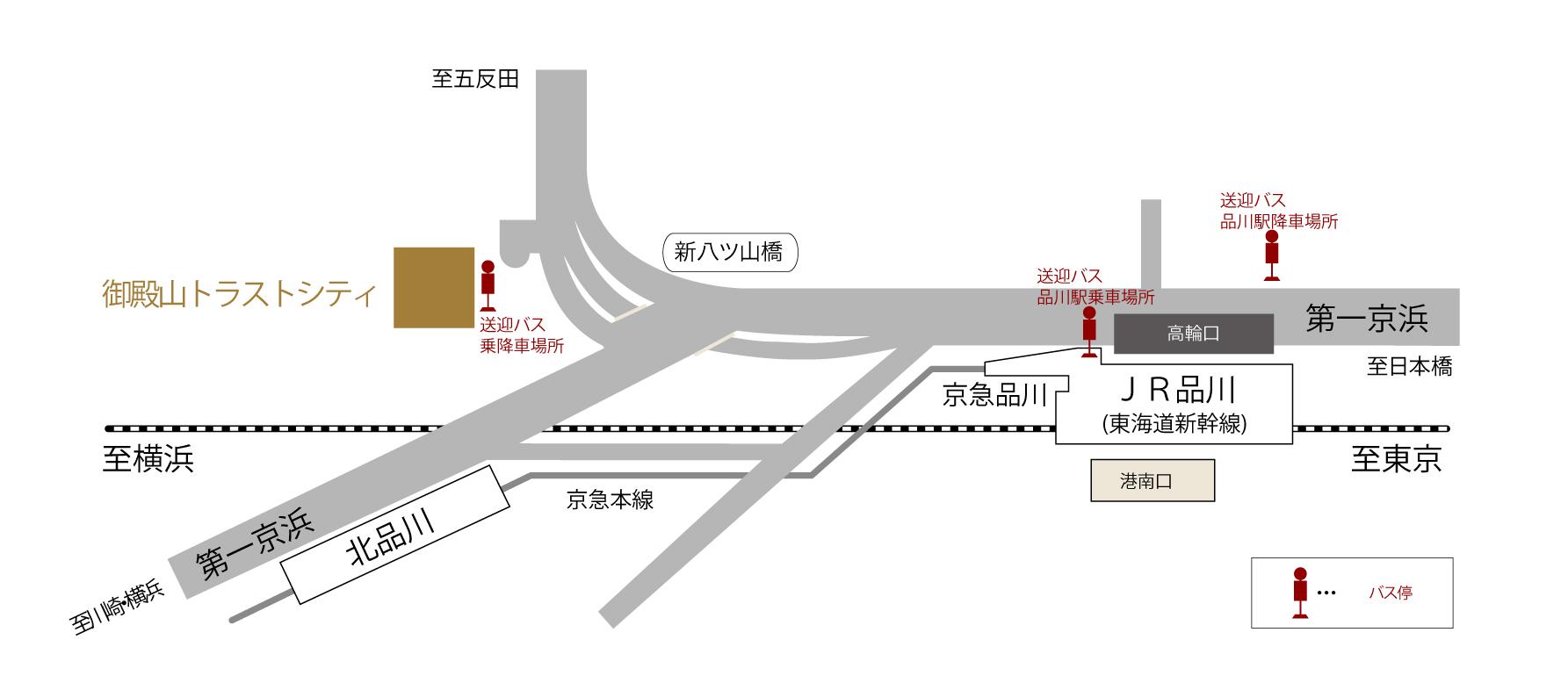 御殿山トラストシティTimesMap