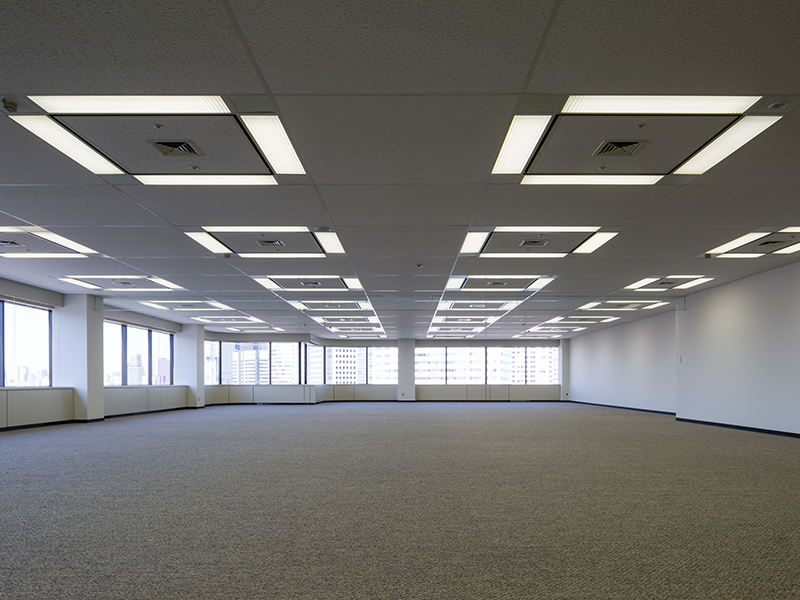 The standard office floor is about 1,650 square meters wiith multidirectional lighting,
