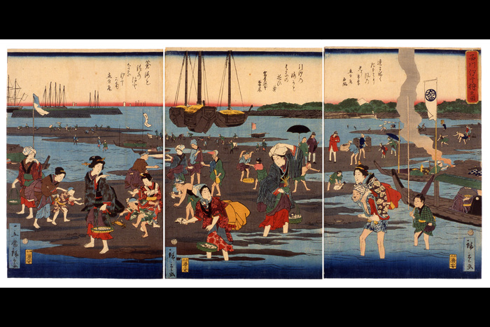 """Shinagawa Shiohigari no Zu"" (Shinagawa Shell Gathering) 
