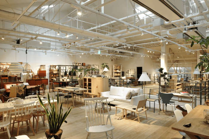 On the 2nd floor of Slow House, you'll find stylish interior furnishings with a focus on Scandinavian furniture.