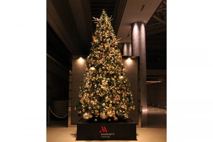東京マリオットホテルのクリスマスツリー