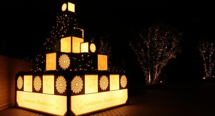 東京マリオット前広場ではキュービックツリーが輝きます!