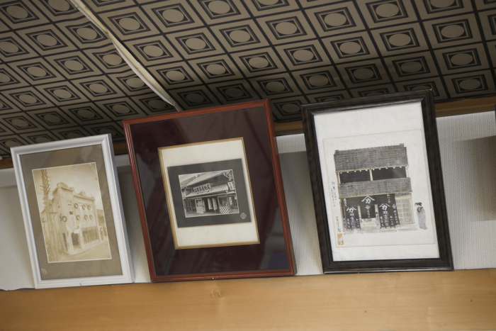 Photographs and paintings depicting the store's time-honored history are on display.
