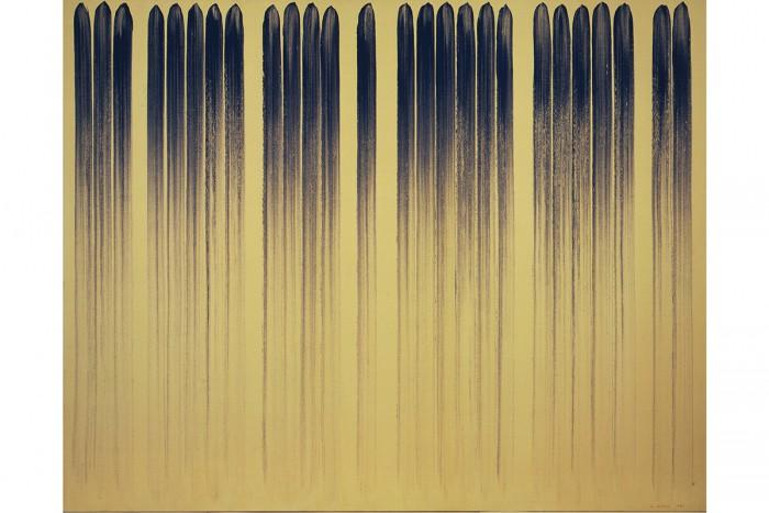 <Lee Ufan, From Line No.790323, 1979  oil on canvas  181×227 cm ©Lee Ufan>