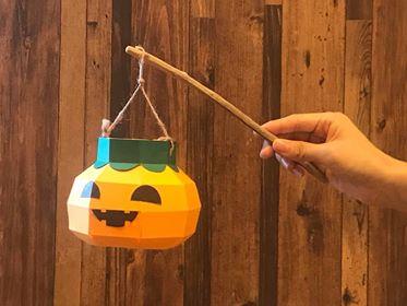 光るかぼちゃランタンワークショップ
