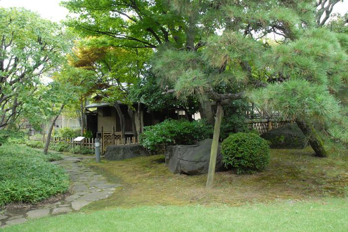ゆっくりと散歩するだけでも心が安らぐ美しい日本庭園では、水琴窟の音色も楽しめます。敷地内には、書院と茶室も併設。