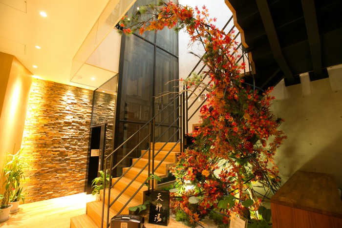 You'll find that our staircase hall is splendidly decorated.