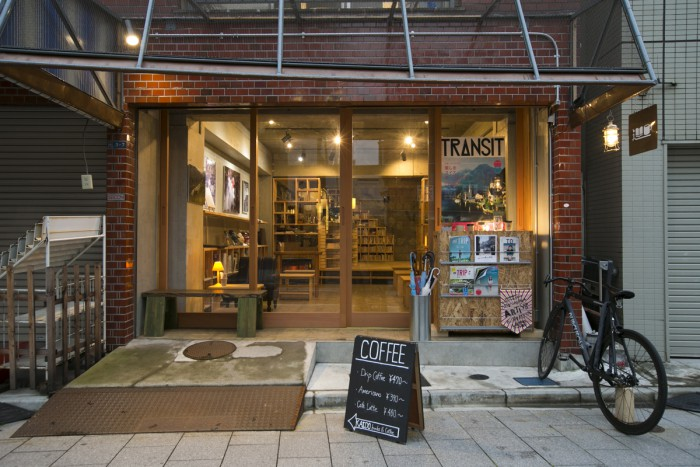 The café is situated in a renovated building that was once a hardware store