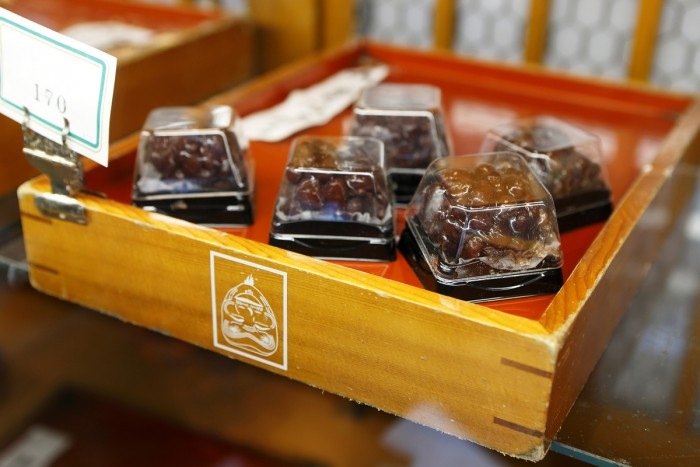 Dainagon kanoko with plenty of azuki red beans (170 yen for one)