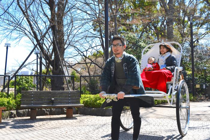 Shinagawa Rickshaws were a great success at the Cherry Blossom Festival